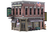 N Scale - Corner Emporium - With Led Light - Factory Built- Woo-br4923