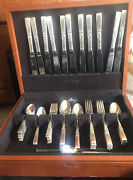 Community Silverplate Morning Star Flateware Set With Case