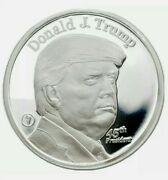 Donald Trump 45th President Mmx 1 Oz. Silver Rounds .999
