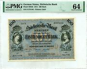 Germany 100 Mark 1911 German States Dresden Pick S 952 B Ch Unc Value 1999