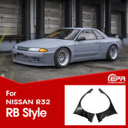 4pcs Frp Front Fender + Extension For Nissan Skyline R32 Gtr Wide Body Rb-style