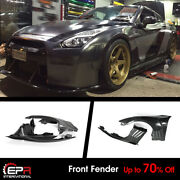 Type Epa Carbon And Frp For Nissan Gtr R35 Front Fender Mudguards With Louver Fin
