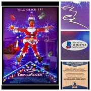 """Chevy Chase Signed 27x40"""" National Lampoons Christmas Vacation Movie Poster Auto"""