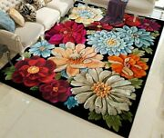 Floral Area Rugs Carpets Rectangular Mat For Home Living Room Bedroom Floor Mats