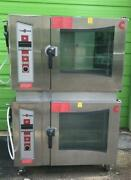 Double Cleveland Convotherm Combi-oven Steamer Electric Oes-10.20 W/ Cst-20-ob
