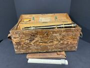 Antique Engineering, Mining And Surveying Equipment In Box
