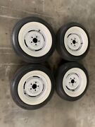 1961 Impala 14andrdquo Wheels With Coker Silver Town Bias Ply Tires Great Condition