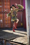 El Vaquero Kassy Silverstone Red Fringe Leather Boots