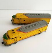 Vintage Marklin Union Pacific F7 Diesel Engine Set Ho 337 3061 And 4061 - 1960's