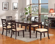 Traditional 7pcs Dining Table Set Dining Room Furniture Set Table And Chairs Set
