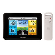Acurite 02077 Color Weather Station Forecaster With Temperature Humidity Black