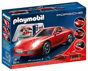 Playmobil 3911 Porsche 911 Carrera S With Lights And Workshop