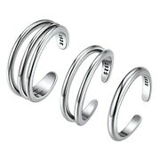 925 Sterling Silver Toe Rings For Women Open Band Ring Adjustable Hawaiian Fo...