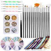Nail Art Brushes Pens Kits Nail Art Design Tools With 15pcs Nail Painting Bru...