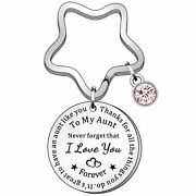 Hulala Personalised Auntie Keyring Never Forget That I Love You Keychains For...