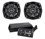 Kicker 10ps52504 5.25andrdquo Harley Davidson Motorcycle Speakers+bluetooth Amp+control