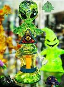 Heady Art Glass American Made Ghost Rollerghoster Recycler Tobacco Water Pipeandnbsp