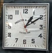 Vintage Proctor And Gamble Electric Time Square Electric Wall Clock