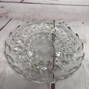 Fostoria Glass American Footed 7 Round Candy Dish Plate Saucer Vintage