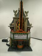 Department 56 Laghosti Movie Theater Halloween Lights Up Plays Sounds