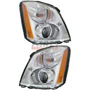 New Left And Right Hid Head Light 2006-2011 Fits Cadillac Dts 20861481 20861482