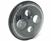 Motorbike Projector Led Headlight Insert - 7 With Halo Ring Light Surround