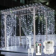 Lepro Fairy Curtain Lights Usb Or Battery Powered Cool White Christmas Light...