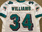 Vtg Authentic Ricky Williams Miami Dolphins Nfl Reebok Jersey Jersey 52 Sewn