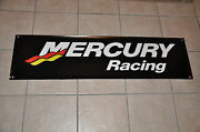 Mercury Racing Banner 48 13 Race Boat W/2 Mercury Racing Stickers Decals