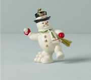 Lenox Christmas Snowman Ornament New Dated 2021 891371 Annual Snowball Fight