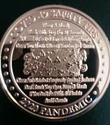 Cv-19 Safety Tips 2020 Pandemic 1 Oz. Copper Rounds .999 Avdp Roll Of 20