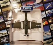 P51 Mustang The Hunter Texas Wwii Military Airplane Franklin Mint Collectible