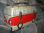 Volkswagen Vw Bus Tin Lunch Box Circa 1960and039s Very Rare Collectable Vintage Read