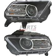 New Hid Head Light Lh And Rh Fits 2013-2014 Ford Mustang Dr3z13008c Dr3z13008d
