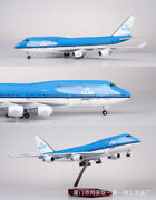 1/157 Scale 47cm Airplane Aircraft Holland Royal Brunei Airlines B747 W/led Lig