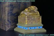 Chinese Dynasty Natural Tianhuang Shoushan Stone Dragon Statue Seal Stamp Signet
