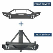 Whole Set Front+rear Bumper Combo W/ Tire Carrier For 1997-2006 Jeep Wrangler Tj