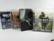 Ps3 Lot Modern Warfare 2 Cod4 Mw Ghosts Black Ops Ii Hardened Edition- Complete