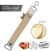 Pure Cow Leather Strop Sharpening And Smoothing For Your Razor Blades Knives