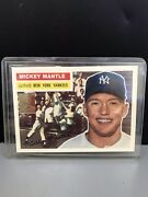 Mickey Mantle Commemorative 6 Of 19 Topps 135 Gold Stamp Trading Card