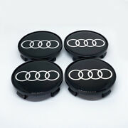 4pcs Plastic Wheel Centre Caps With Silicone Emblem 68mm/65mm New For Audi