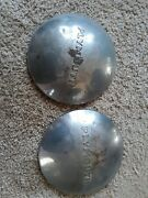 2 Vintage 1949 1950 Plymouth Dodge Belvedere Police Dog Dish Hubcaps Wheel Cover