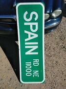 Authentic Retired Spain Street Sign / Road Sign. 16 X 48 Single Sided