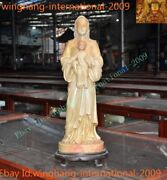 Natural Shoushan Stone Carve Christian Mother Of Jesus Christ Virgin Mary Statue