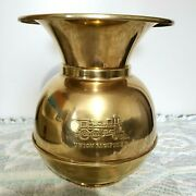 Brass Spittoon Union Pacific Railroad Spittoon 10andrdquo Tall Train 2 Sides