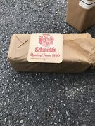 Vtg Schmidtand039s Double Sided Cardboard Beer Coasters Lot Of 200 Pc Open Package