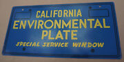 Vintage California Environmental License Plate Dmv Metal Double Sided Sign 1982