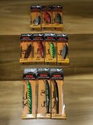 Rapala Scatter Rap Lure Lot Of 10 Scrc-05 Scrs-07 Scrm-11 New In Box