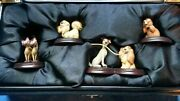 Rare Disney Limited Edition Lady And The Tramp 50th Anniversary Pewter Miniatures