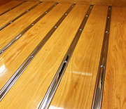 Bed Strips Chevy 1937 1938 1939 Polished Stainless Chevrolet Short Stepside Wood